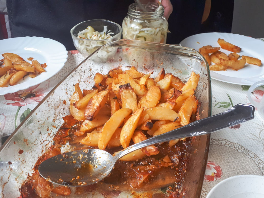 Magyaros tepsis krumpli